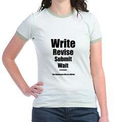 Write Revise Submit Wait Jr. Ringer T-Shirt