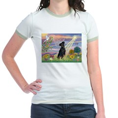 Cloud Angel Min. Pinscher Jr. Ringer T-Shirt