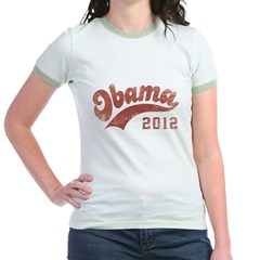 Obama 2012 vintage Jr. Ringer T-Shirt
