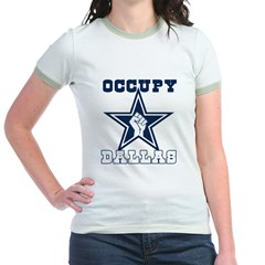 Occupy Dallas Jr. Ringer T-Shirt