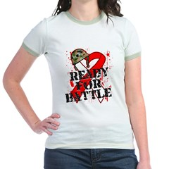 Battle Oral Cancer Jr. Ringer T-Shirt