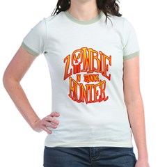 Zombie Hunter In Training Jr. Ringer T-Shirt