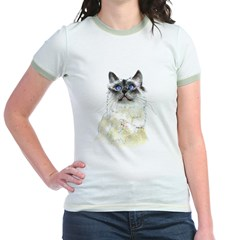 Birman Beauty #2 Jr. Ringer T-Shirt
