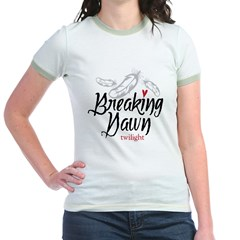Breaking Dawn Feathers Jr. Ringer T-Shirt