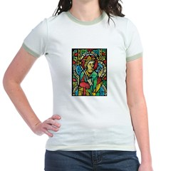 Stained Glass Queen Light Jr. Ringer T-Shirt