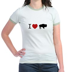I Love Buffalo Jr. Ringer T-Shirt