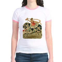 Circus Horse And Rider Jr. Ringer T-Shirt