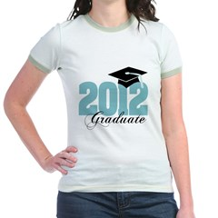 2012 graduate color aqua Jr. Ringer T-Shirt