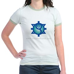 Temple of Earth Women's Pink Jr. Ringer T-Shirt