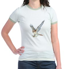 striking Red-tail Hawk Jr. Ringer T-Shirt