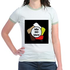 Idle No More - Five Hands Jr. Ringer T-Shirt