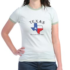 tx Women's Pink Jr. Ringer T-Shirt