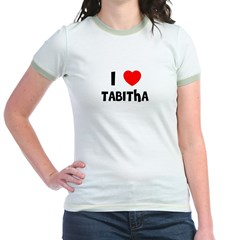 I LOVE TABITHA Jr. Ringer T-Shirt