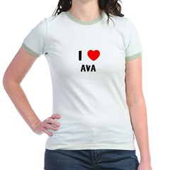 I LOVE AVA Jr. Ringer T-Shirt