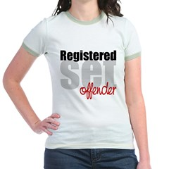 Registered Set Offender Jr. Ringer T-Shirt