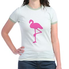 Hot Pink Flamingo Jr. Ringer T-Shirt