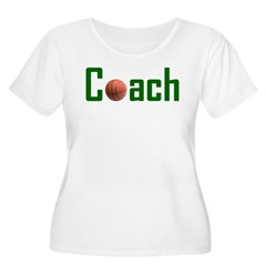 Basketball Coach Green Women's Plus Size Scoop Neck T-Shirt