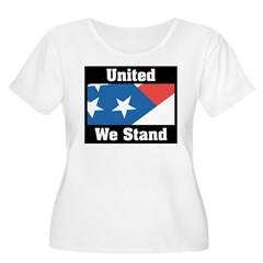 United We Stand Women's Plus Size Scoop Neck T-Shirt