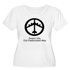 Peace the Old Fashioned Way Women's Plus Size Scoop Neck T-Shirt