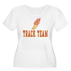 Track Team Women's Plus Size Scoop Neck T-Shirt
