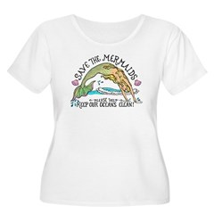 Save the Mermaids Women's Plus Size Scoop Neck T-Shirt