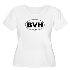 BVH (Beverley Hills) Women's Plus Size Scoop Neck T-Shirt