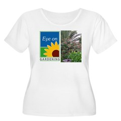 Eye on Gardening Tropical Plants Women's Plus Size Scoop Neck T-Shirt