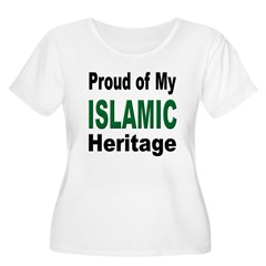 Proud Islamic Heritage Women's Plus Size Scoop Neck T-Shirt