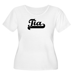 Black jersey: Tia Women's Plus Size Scoop Neck T-Shirt