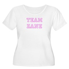 Pink team Zane Women's Plus Size Scoop Neck T-Shirt