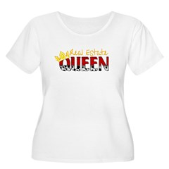 Real Estate Queen Women's Plus Size Scoop Neck T-Shirt