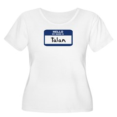 Hello: Talan Women's Plus Size Scoop Neck T-Shirt