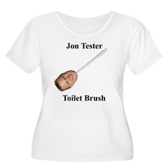 Jon Tester Toilet Brush Women's Plus Size Scoop Neck T-Shirt
