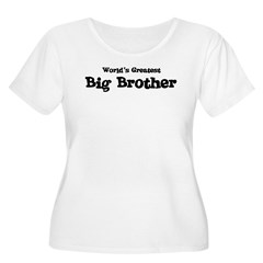 World's Greatest: Big Brother Women's Plus Size Scoop Neck T-Shirt