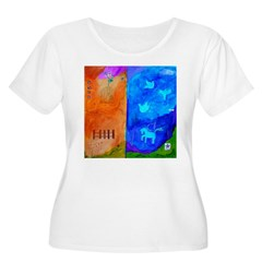 Night Fall Freedom Women's Plus Size Scoop Neck T-Shirt