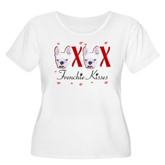 Frenchie Kisses OXOX Women's Plus Size Scoop Neck T-Shirt
