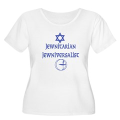 JewNitarian JewNiversalis Women's Plus Size Scoop Neck T-Shirt