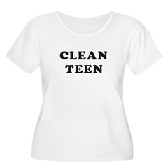 clean1_8_10 Women's Plus Size Scoop Neck T-Shirt