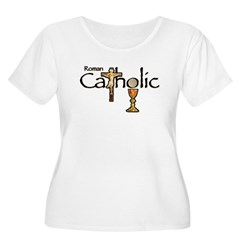 Proud to be Catholic Women's Plus Size Scoop Neck T-Shirt