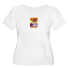Espana Women's Plus Size Scoop Neck T-Shirt