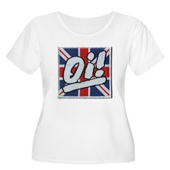 Oi Women's Plus Size Scoop Neck T-Shirt