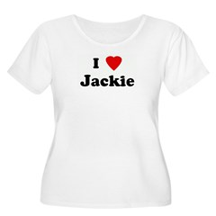 I Love Jackie Women's Plus Size Scoop Neck T-Shirt