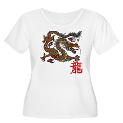 Asian Dragon Women's Plus Size Scoop Neck T-Shirt