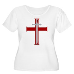 Crusader Sword Women's Plus Size Scoop Neck T-Shirt