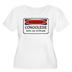 Attitude Congolese Women's Plus Size Scoop Neck T-Shirt