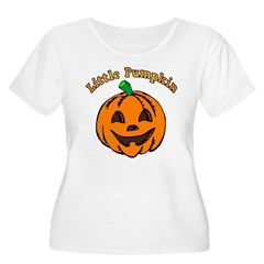 Little Pumpkin Women's Plus Size Scoop Neck T-Shirt