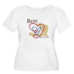 Always In My Hear Women's Plus Size Scoop Neck T-Shirt