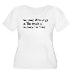 Keming Women's Plus Size Scoop Neck T-Shirt
