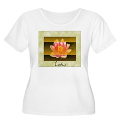 Good Morning Lotus Women's Plus Size Scoop Neck T-Shirt