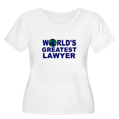 World's Greatest Lawyer Women's Plus Size Scoop Neck T-Shirt